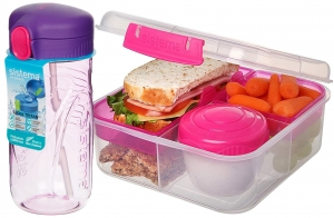 Sistema zestaw lunchbox bento 1,25l to-go + bidon quick flip 520ml